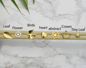 Tiny Gold Stud Earrings, Geometric Gold Stud Earrings, Gold Post Earrings, Gold Nugget Earrings, Minimalist Gold Earrings, Everyday Earrings