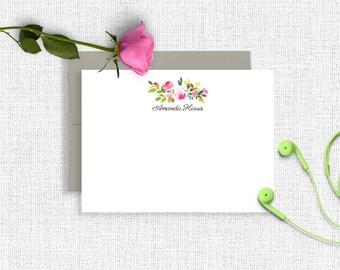 Personalized Stationery, Personalized Stationary, Personalized Note Cards, Thank You Note Cards, Stationery Set, Custom Stationery, FL07