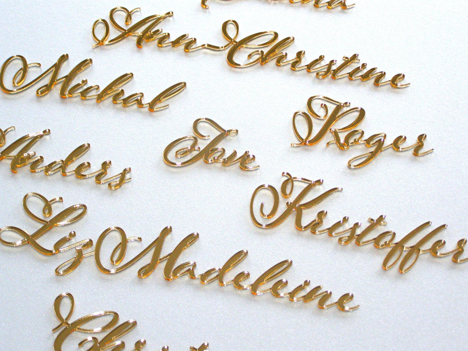 Personalized laser cut names wedding place table cards wedding zoom junglespirit Gallery