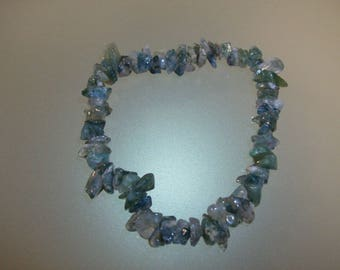 Baroque bracelet with Agate mousse Chips