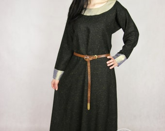 Sale! Early Medieval  dress made of wool. Size M  and L ready for shipping! Viking Kirtle Cote Garb  Viking costume, reconstruction.
