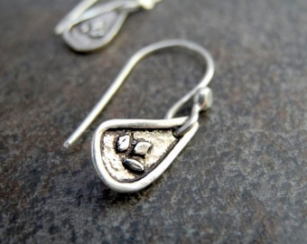 Sterling Silver Leaf Earrings Tiny Leaf Autumn Leaves Fall Jewelry