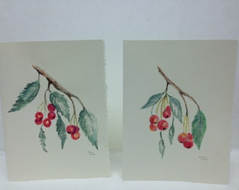 Wild Cherry Water Color Cards