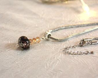 Necklace with metal chain guaranteed nickel and lead free, with Medallion