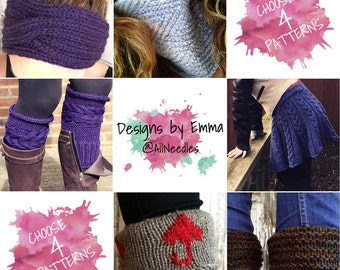 PATTERN DISCOUNT PACKAGE Choice of 4 Listings Deal - Selected Patterns Only Four Pattern Bundle Mix and Match