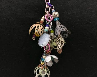 Torch Fired Dangle Necklace