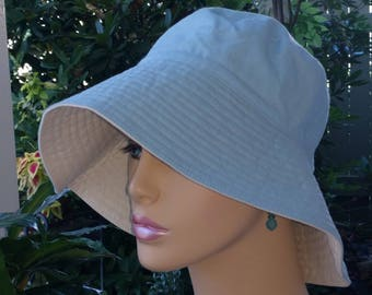 Womens Chemo Hat Sun Hat Beach Hat Floppy Hat Alopecia Hair Loss Hat Made in the USA. SMALL-MEDIUM