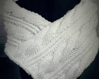 Cable Knit Wedding/Bridal Shawl