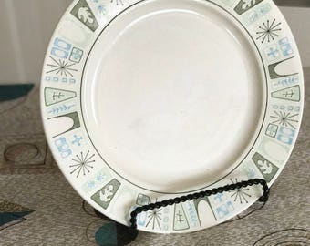 Vintage Mid Century Modern Taylorstone Cathay 10 inch Dinner Plate -- 1960's