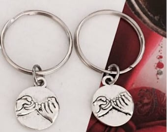 SALE - 1-6 Pinky Promise Keychains, Best Friend Keychains, Friendship Gift, Sister Gift, Couple Gift,Valentine's, Christmas Gift.