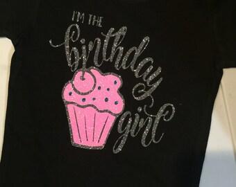 Girls Birthday Shirt - I'm the Birthday Girl - Toddler Birthday