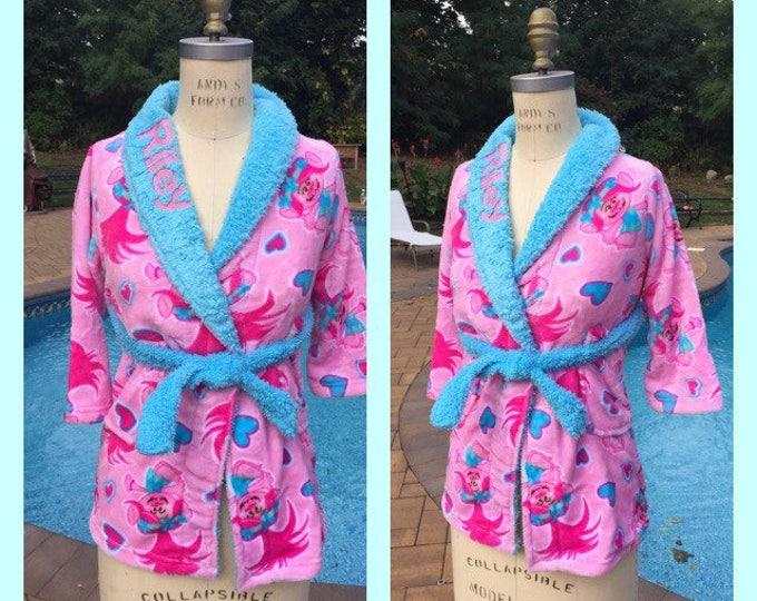 DreamWorks Trolls Poppy Fleece Bath Robe - Personalized Monogrammed Girls 4-12