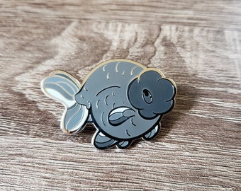 Ranchu Fancy Goldfish Hard Enamel Pin
