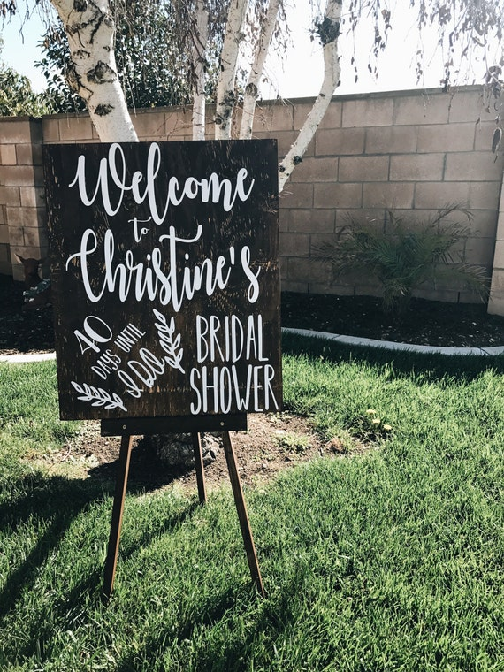 Bridal Shower Welcome Sign | Welcome to the Bridal Shower Sign | Days Until the Wedding