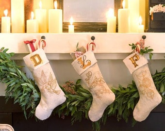 Personalized Embroidered Christmas stocking