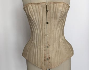 Antique 1890s corset    Original    Size 26