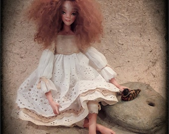 Rita Boudoir Art Doll. Antique Vintage style Goth Handmade Gift OOAK