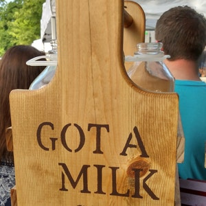 Handcrafted Milk Bottle Caddy