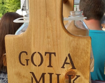 Handcrafted Milk Bottle Caddy