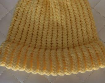 Messy Bun Hat Yellow
