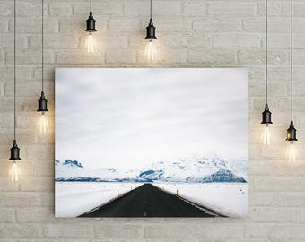 On the road in Iceland - Iceland, Iceland print, Art Photography wall Iceland, Icelandic landscape mountain photography