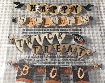 Vintage Halloween Banners Repeat Jolees