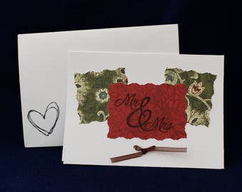 Mr. and Mrs. Thank You Card with Bow