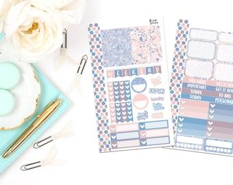 PK8-Rose Quartz & Serenity Personal Planner Sticker Kit