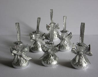 Christening, Baptism Favor - Chocolate Candy Angels - Set of 72 - Wedding, Bridal, Baby Shower, Party, Confirmation, First Communion Favor