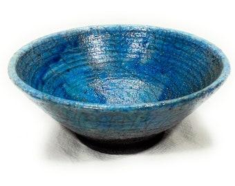 Turquoise Raku Ceramic Tea Mug-handmade-unique piece by Mosraku