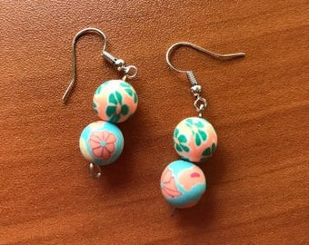Colorful Floral Fishhook Earrings