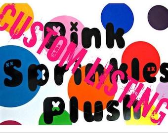 RESERVED for michaelhansard80 6 Pink Sprinkles Plush monsters
