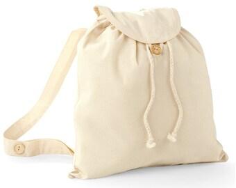 Organic Festival Backpack - Cotton Backpack - Light Backpack - Festival bag - Beach Backpack