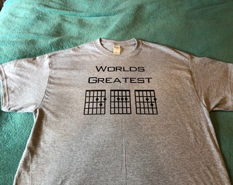 Worlds greatest (Dad) guitar chord T-shirt-Adults