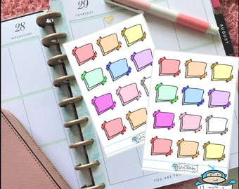 Sticky Note With Glitter Washi - Post It Note Sticker, Take Note Sticker - Planner Sticker (MM078)