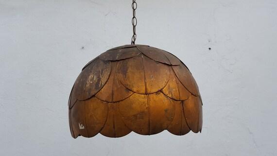 60s italian hollywood regency lotus pendant lamp aloadofball Images