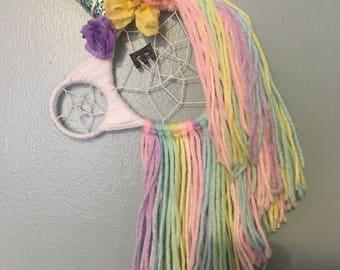 Unicorn Dreamcatcher, Dream Catcher Wall Hanging, Nursery Decor