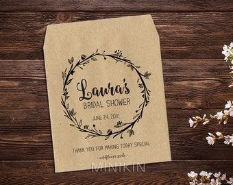 Bridal Shower Favor, Woodsy Wedding, Seed Favor, Personalized Seed Packets, Wedding Favor, Rustic Wedding, Seed Packet, Rustic Favour x 25