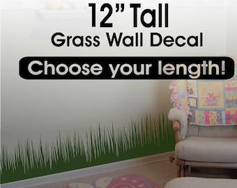 Grass Wall Decal border / Grass Wall Decor / Grass Border/ Playroom Decor / Kids Room Decor Removable vinyl wall border - nursery wall decal