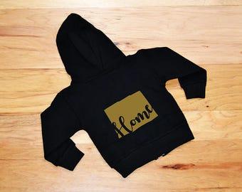 colorado state home baby jacket - girls colorado home hoodie - colorado state home girls jacket - baby girl colorado home hoodie