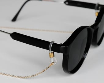 Gold Single Cable Chain Sunglass and eyewear lanyards and cord accessories