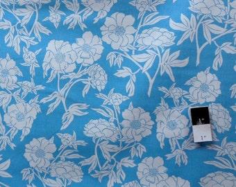 Valori Wells PWVW053 Novella Peony Teal Cotton Fabric 1 Yd