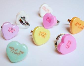 Conversation Heart Ring