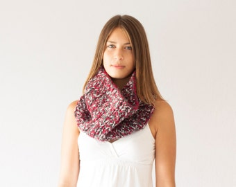 Sales Knit collar red grey cowl shoulder warmer neck warmer slouchy chunky collar