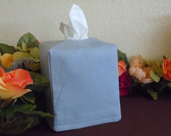 Ready To Ship - Essex  Lt. Gray  Linen  -  Fabric Tissue Box Cover