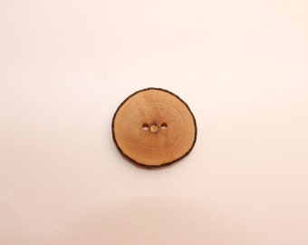 Set of 5 maple wooden buttons | 1.2 - 1.6 "