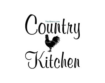 Country Kitchen Rooster   Wall Decal   Vinyl Wall Decals, Wall Decor,  Kitchen Wall