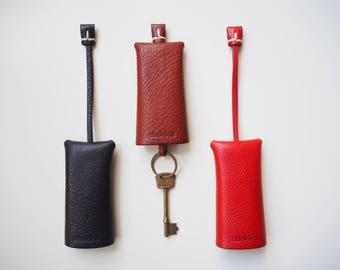 Leather Key Case, Leather Key Holder, Leather Key Fob, Leather Keyring