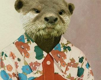 Olivia the Otter, 3rd Grade - 8 X 10 Art Print