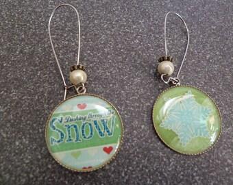 """Earrings sleepers """"Snow"""""""